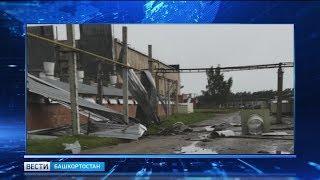 В Башкирии ураганный ветер сорвал кровлю с крыши птицефабрики