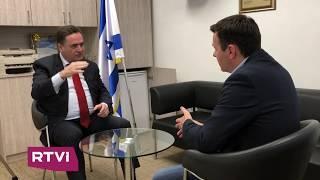 «Израиль ответит жестко на обстрелы из сектора Газа» -министр  Исраэль Кац в интервью RTVI