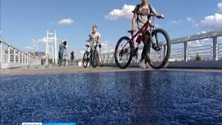 Вантовый мост между островом Татышев и БКЗ открыли