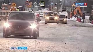 Открылось движение транспорта по временному мосту в Бесовце