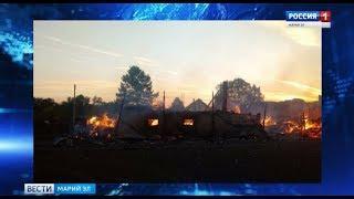 В Мари-Турекском районе произошли 2 серьезных пожара