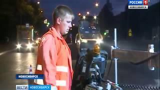 На улице Немировича-Данченко начали укладывать верхний слой новой дороги