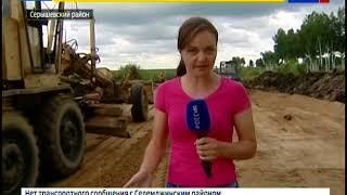 На подъезде к селу Лермонтово укладывают гравийное покрытие