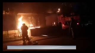 Ночью в Рыбинске произошел серьезный пожар