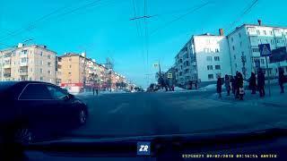 Момент ДТП с участием субару и авео на Ленина-Николаева Чебоксары