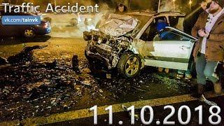 Подборка аварий и дорожных происшествий за 11.10.2018 (ДТП, Аварии, ЧП, Traffic Accident)