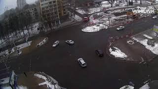 Кобринский мост. ДТП. 23.02.2018. Брест.