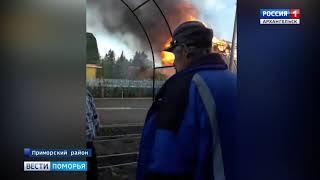 Две дачи и баня сгорели накануне вечером под Новодвинском
