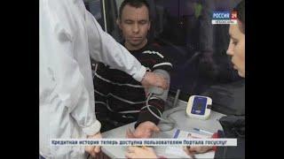 Инспекторы ГИБДД вместе с медиками проверяют водителей пассажирского транспорта и большегрузов