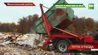 Незаконный полигон бытовых отходов в Мензелинском районе | ТНВ