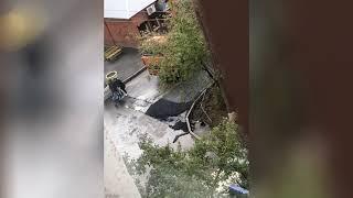Асфальт в дождь в Солнечном (Красноярск)