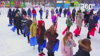 Коптеры «360» сняли с воздуха флешмоб «Здоровая семья – сильная Россия» в Балашихе