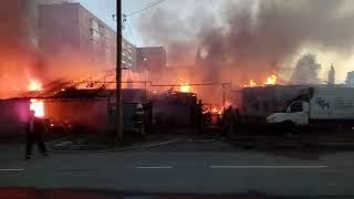 Пожар Нижний Тагил.ул. Калинина.частный сектор. Хозяин в шоке