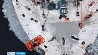 Спасение рыбака в Охотском море