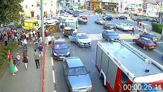 ДТП Свободы/Победы. 28.08.18. (полное видео)