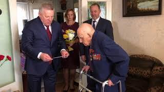 Губернатор Хабаровского края 9 мая поздравил ветерана с юбилеем