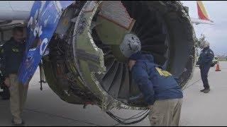Видео из салона Boeing с загоревшимся двигателем