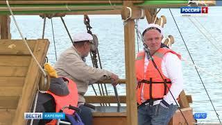 Пробное плавание по Онежскому озеру совершило новое судно
