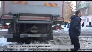 Фура парализовала движение транспорта на Пятерке в Ярославле
