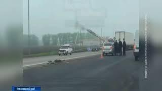 Столкнулись иномарка и грузовик: один человек погиб, двое пострадали