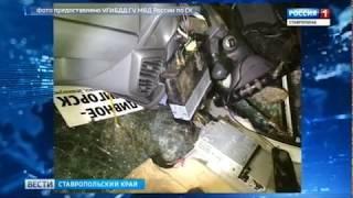 Маршрутка с пассажирами перевернулась на Ставрополье