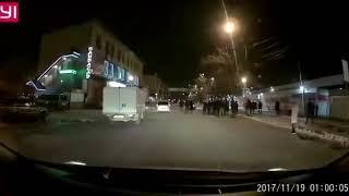 Массовую драку у рынка на Спортивной во Владивостоке заснял видеорегистратор.
