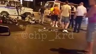 Полицейский автомобиль врезался в мотоцикл. Два трупа. Краснодар