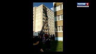 Пожар в спальном районе Уфы: есть пострадавшие