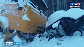На трассе М-8 недалеко от Холмогор произошло ДТП со смертельным исходом