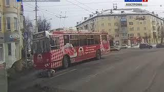 В Костроме на пешеходном переходе троллейбус сбил бабушку