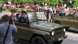 Автоколонна с ветеранами 9.5.2018 Ростов-на-Дону Главный