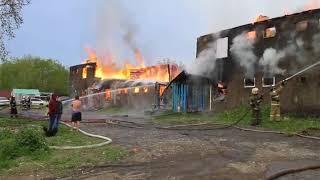 В столице Камчатки сгорел двухэтажный жилой дом