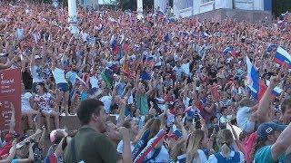 Волгоградцы отпраздновали выход сборной России в 1/4 финала ЧМ-2018