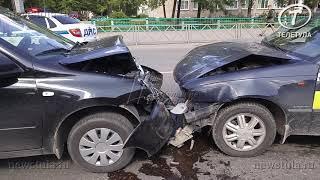 Пьяный таксист устроил массовое ДТП в Туле