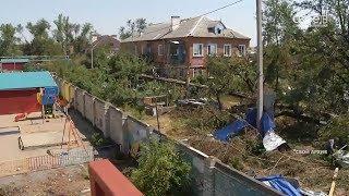 В Зеленокумске продолжают оказывать помощь пострадавшим от стихии