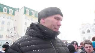 Николай Валуев и хоккей в валенках в Хабаровске