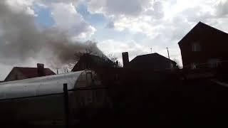 Под Оренбургом молния удалила в крышу жилого дома 2.05.2018