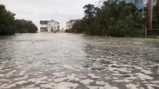Ураган «Флоренс» вышел на сушу