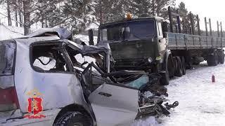 Появилось видео с места аварии под Красноярском, в которой погибли восемь человек
