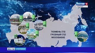 Качество жизни смолян оценил университет при Правительстве РФ