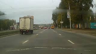 22.09.2018 Момент ДТП Ижевск. Перевернулся на рельсах.