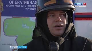 Учения службы спасателей в Костомукше