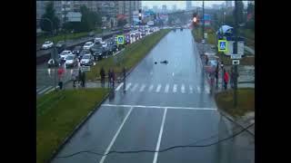 08.09.2017 Момент ДТП сбили пешехода на ул. Ленина (Удмуртия)