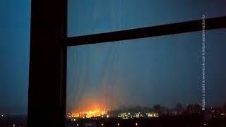 Ростовчане сняли на видео ночную грозу