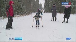 Сильный снегопад  порадовал петрозаводчан