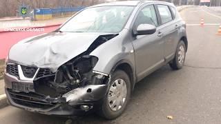 У Сумах поліцейські оперативно затримали винуватця ДТП, який намагався залишити місце автопригоди