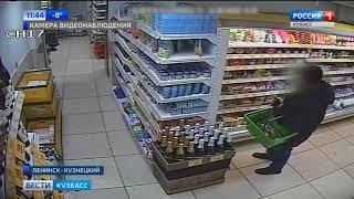Кузбассовец пытался вынести из магазина неоплаченные продукты
