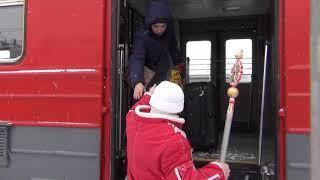 Посланник деда мороза Сергей Рычков отправился из Оренбурга в Новотроицк