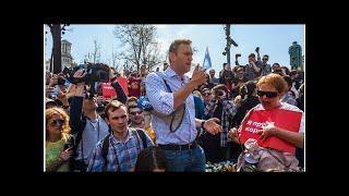 Выступление и задержание Навального на митинге 5 мая в Москве. Видео