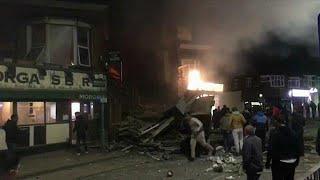 Сильный взрыв в Лестере